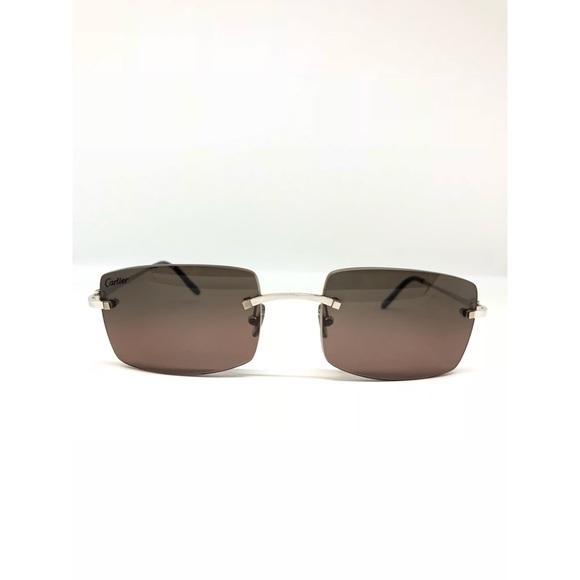 5e1213830ed Cartier Other - CARTIER C Decor Rimless Metal Sunglasses